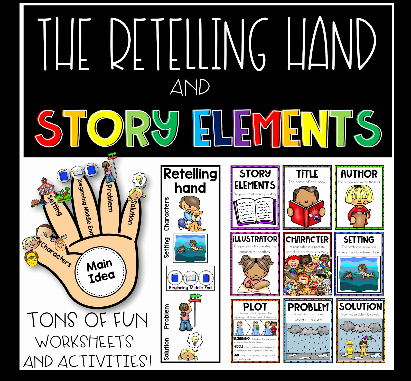 Story Elements Worksheets 2nd Grade Inspirational Simply Delightful In 2nd Grade the Retelling Hand Story