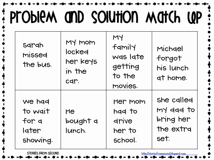 Story Elements Worksheets 2nd Grade Luxury 2nd Grade with Mrs Wade Problem and solution