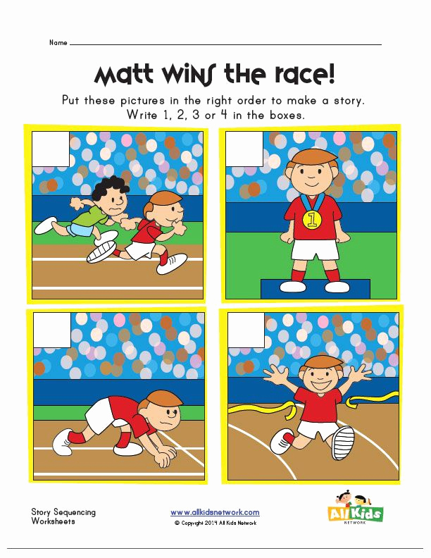 Story Sequence Pictures Worksheets Beautiful Sequencing Worksheet Race