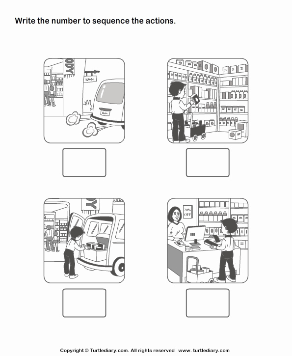 Story Sequence Pictures Worksheets Fresh Picture Sequence Worksheet Turtle Diary