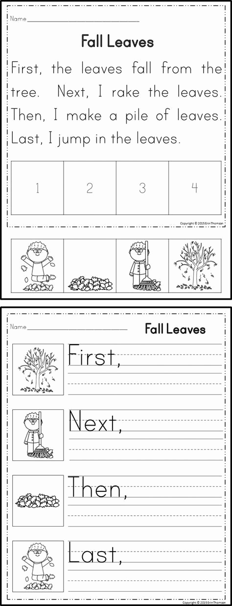 Story Sequencing Worksheets for Kindergarten Best Of Sequencing Stories First Next then Last Set 1