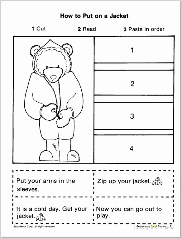 Story Sequencing Worksheets for Kindergarten Best Of Short Story Sequencing Cut & Paste