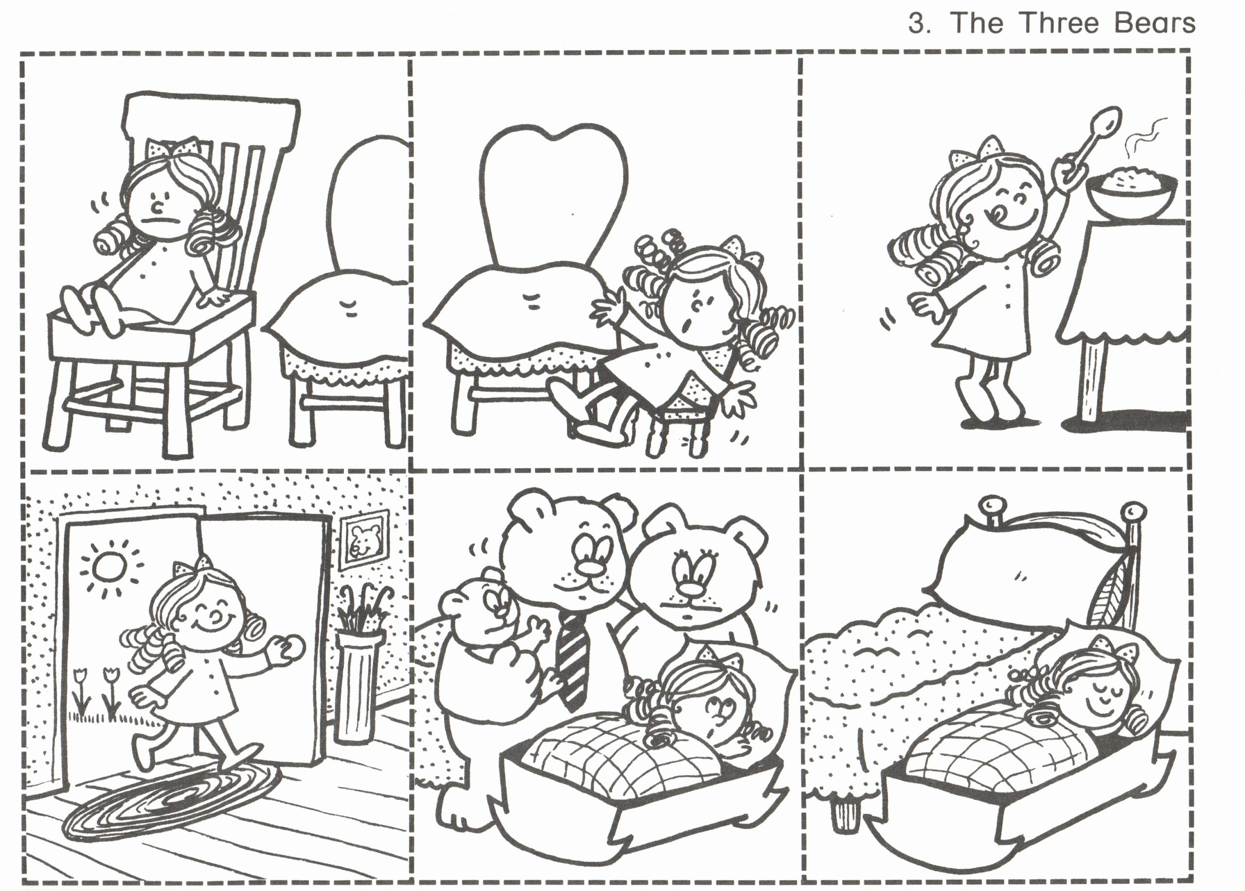 Story Sequencing Worksheets for Kindergarten Inspirational 3 – 3 Bears