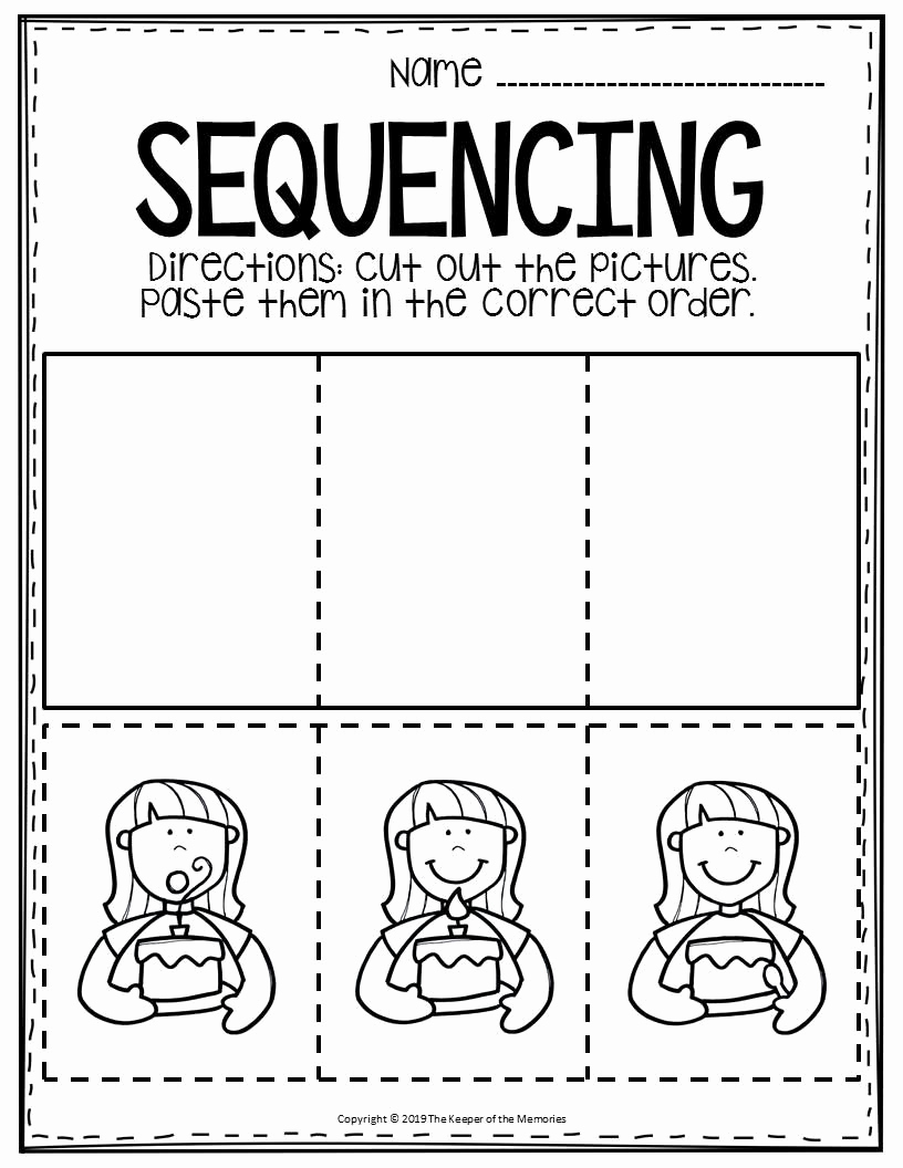 Story Sequencing Worksheets for Kindergarten New Free Printable Sequence Of events Worksheets