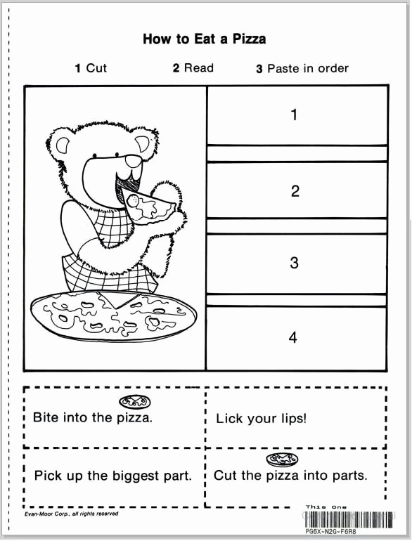 Story Sequencing Worksheets for Kindergarten Unique Teach Child How to Read Cut and Paste Story Sequencing