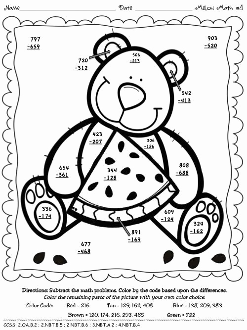 Subtraction with Regrouping Coloring Worksheets Beautiful 2 Digit Addition without Regrouping Coloring Worksheets In