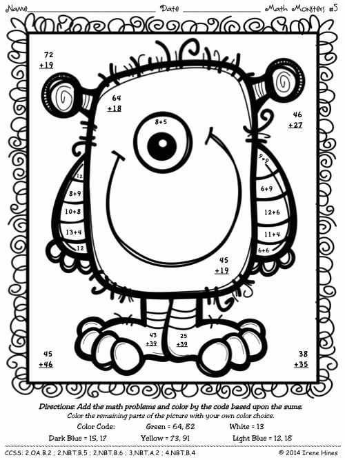 Subtraction with Regrouping Coloring Worksheets Best Of Pin by Irene Hines Teaching Affects On Color by the
