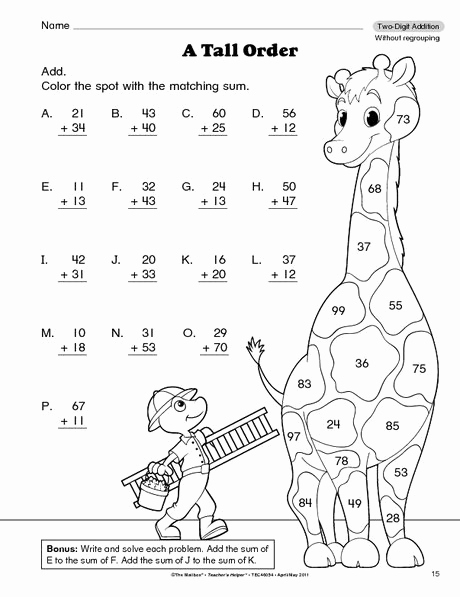 Subtraction with Regrouping Coloring Worksheets Lovely 3 Digit Addition with Regrouping Coloring Sketch Coloring Page