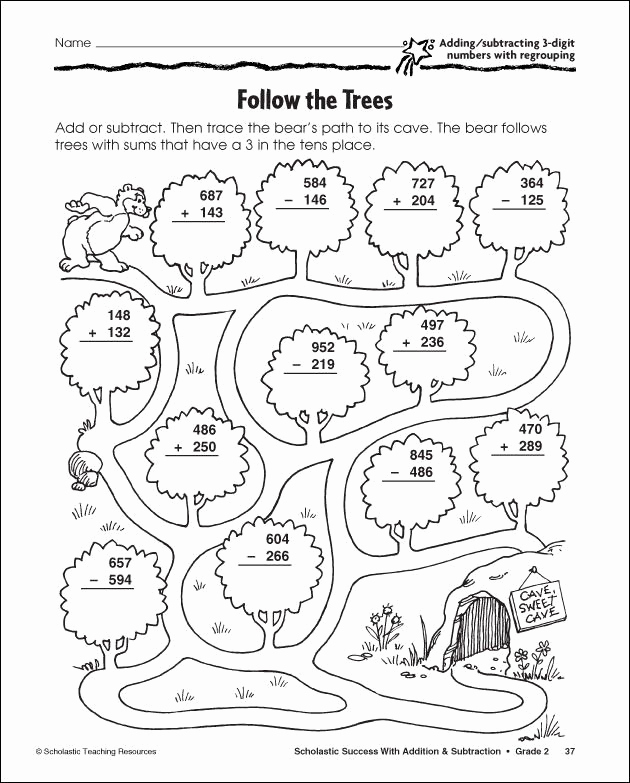 Subtraction with Regrouping Coloring Worksheets Unique 3 Digit Subtraction with Regrouping Coloring Sheet