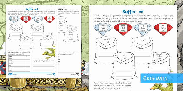 Suffix Ed Worksheets Elegant Ks2 Adding the Suffix Ed Worksheet Ks2 Fantasy Story