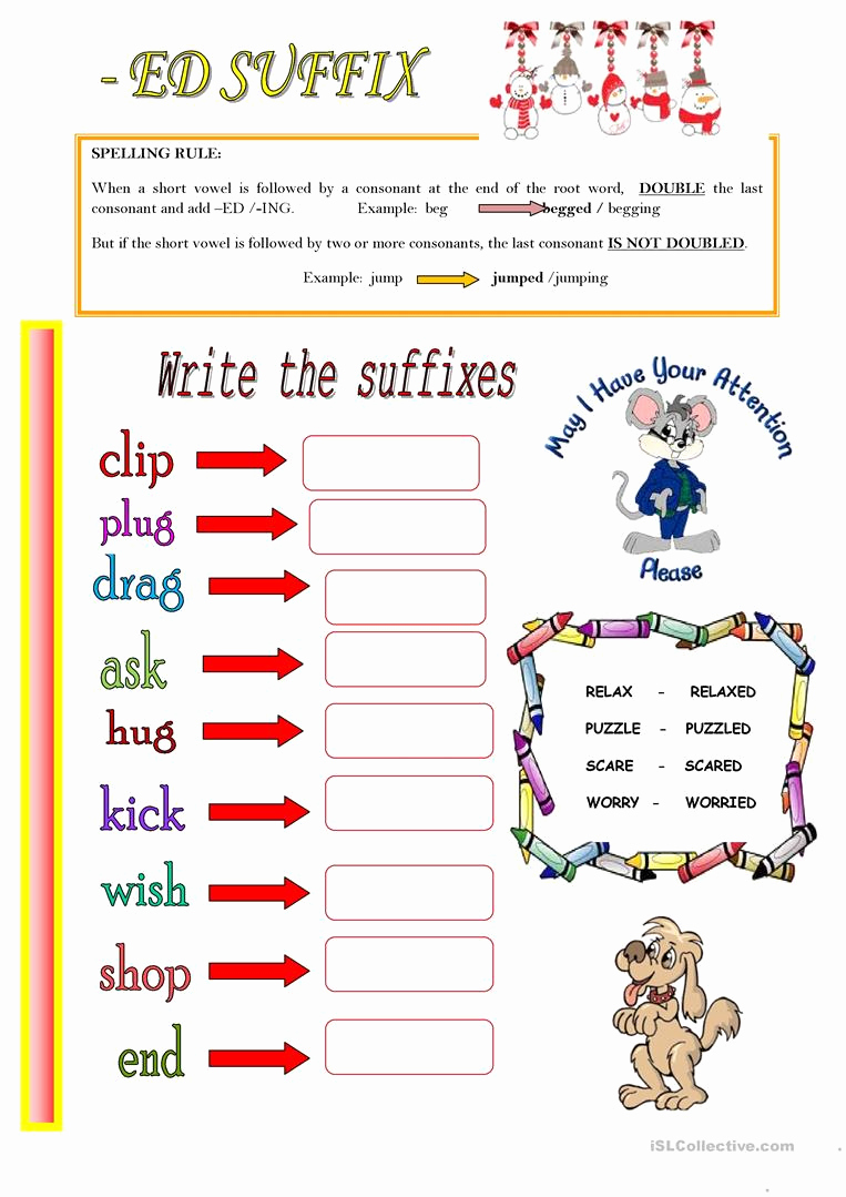 Suffix Ed Worksheets Unique Ed Suffix Worksheet Free Esl Printable Worksheets Made