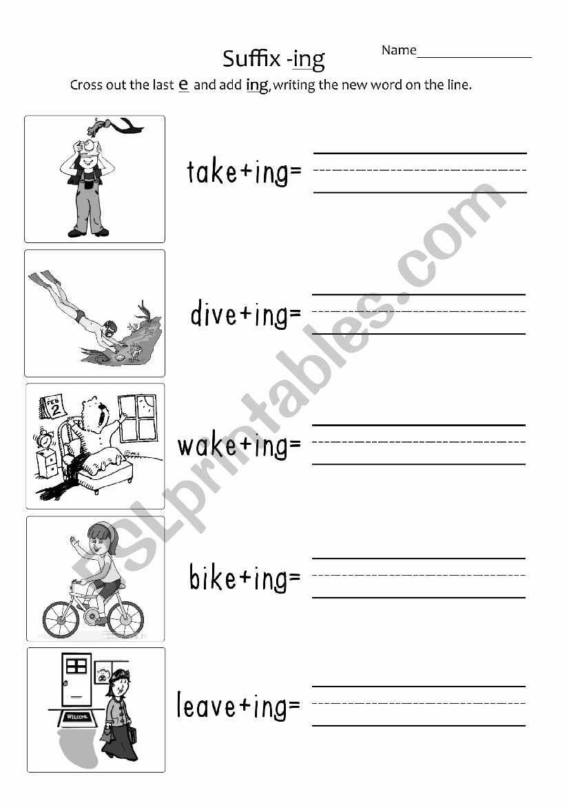Suffix Ing Worksheet Awesome 30 Suffix Ing Worksheets