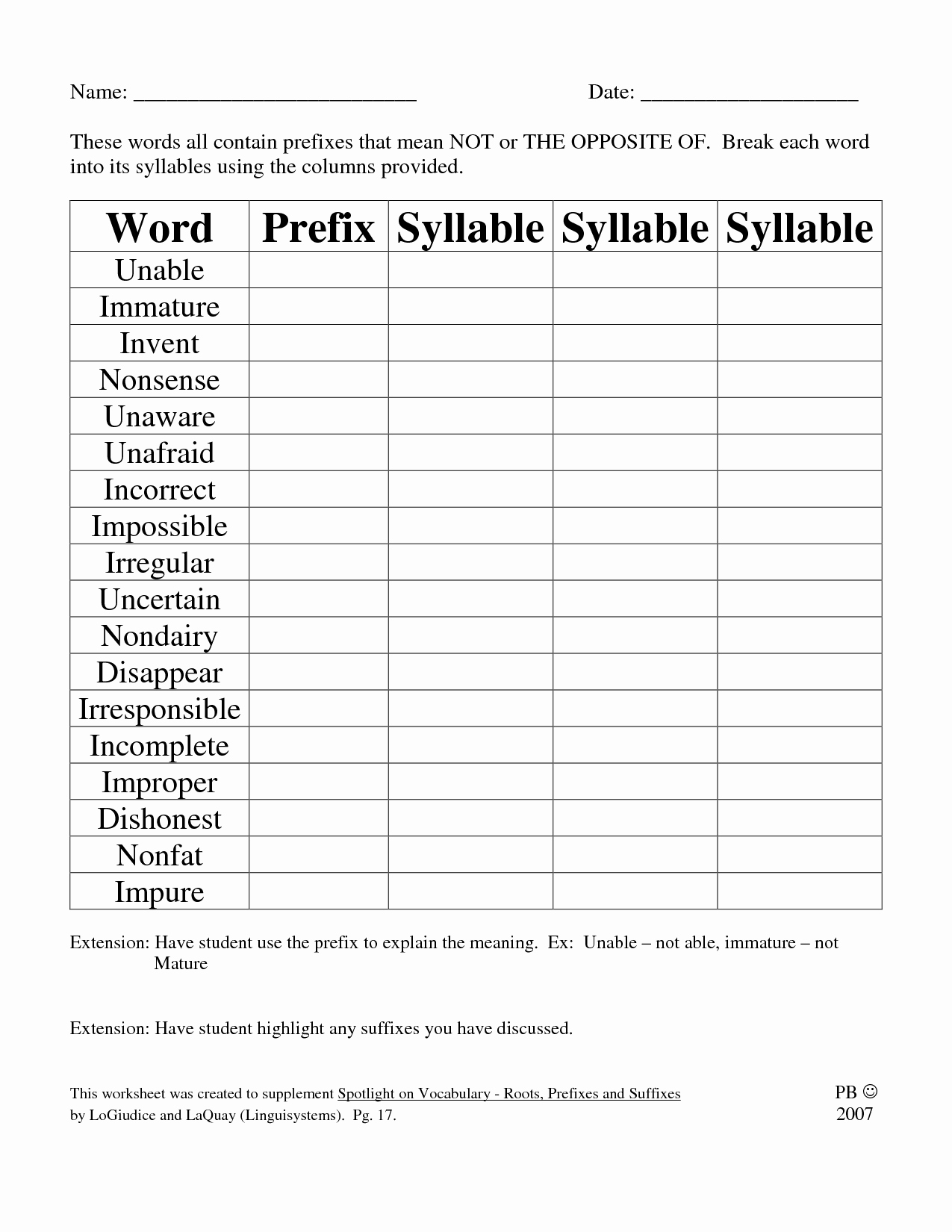 Suffix Worksheets 4th Grade New 15 Best Of Mon Suffixes Worksheets Prefixes