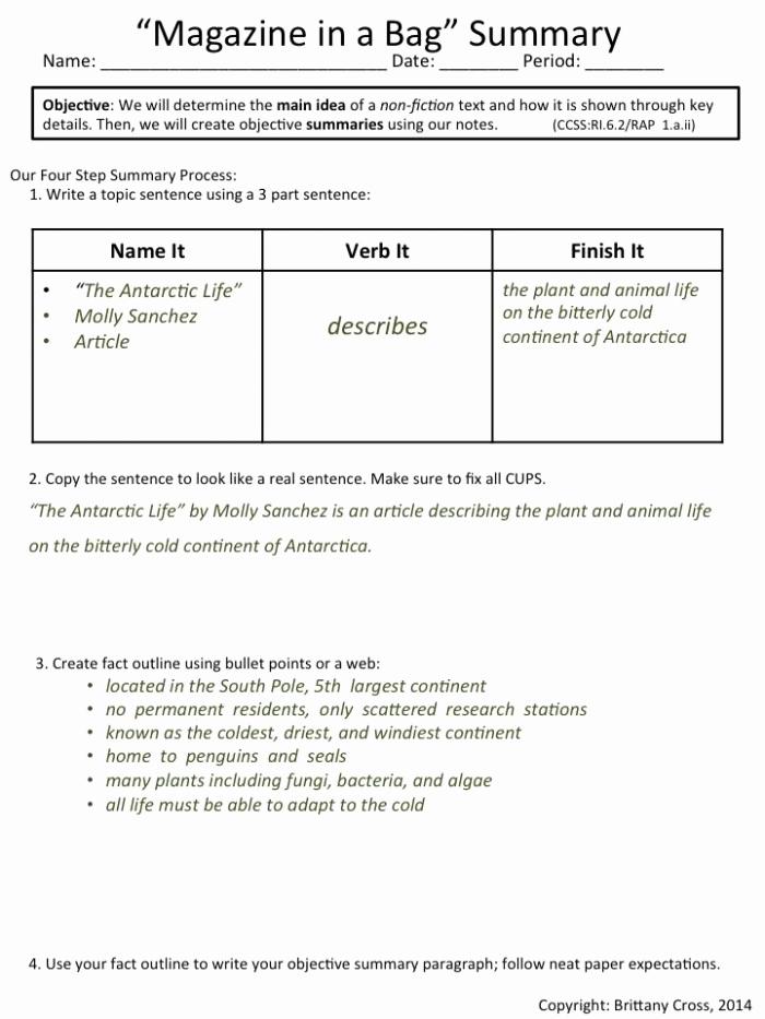 Summarizing Worksheet 3rd Grade Best Of 20 Summarizing Worksheet 3rd Grade