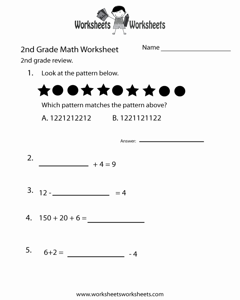 Summary Worksheets 2nd Grade Best Of Free Printable 2nd Grade Math Review Worksheets