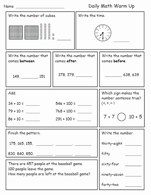 Summary Worksheets 2nd Grade Inspirational 2nd Grade Daily Math Review Pdf Tutorial Worksheet