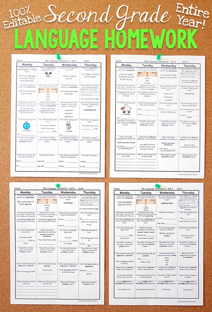 Summary Worksheets 2nd Grade Lovely 2nd Grade Language Spiral Review & Quizzes