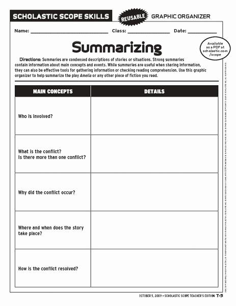 Summary Worksheets 2nd Grade Lovely 2nd Grade Summarizing Worksheets Summarizing Worksheets