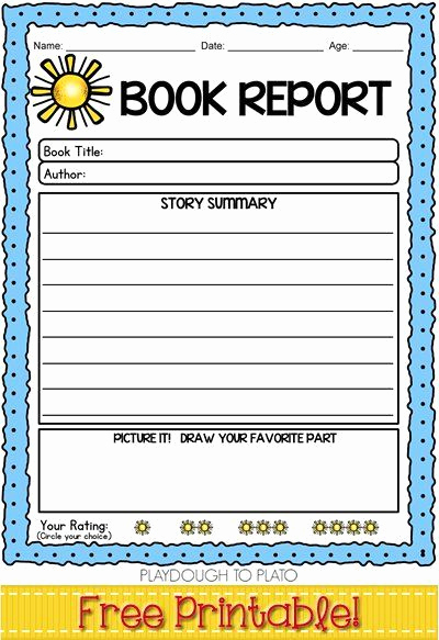 Summary Worksheets 2nd Grade Luxury Free 2nd Grade Book Report Template Yahoo Image Search