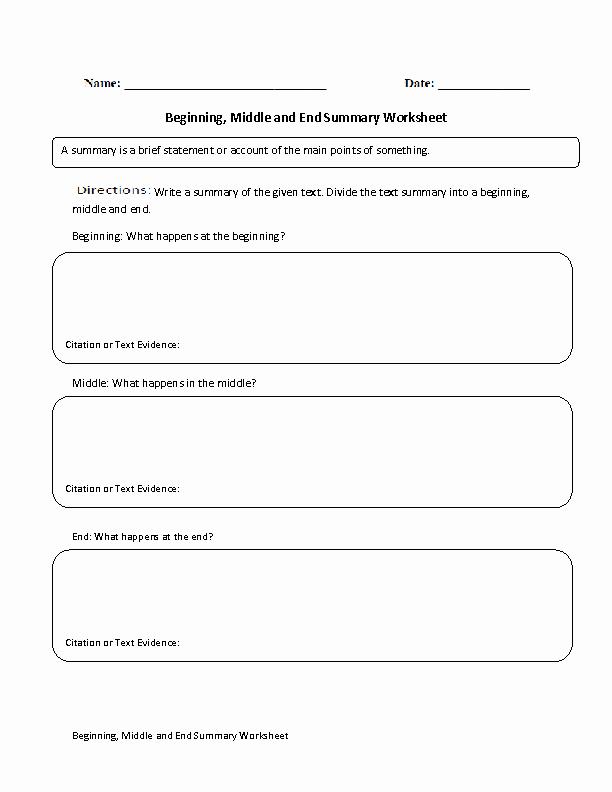 Summary Worksheets Middle School Beautiful Englishlinx