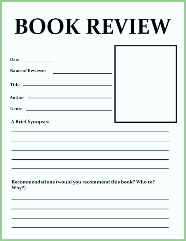 Summary Worksheets Middle School Inspirational Book Review Template for Kids Tips & Activities Go