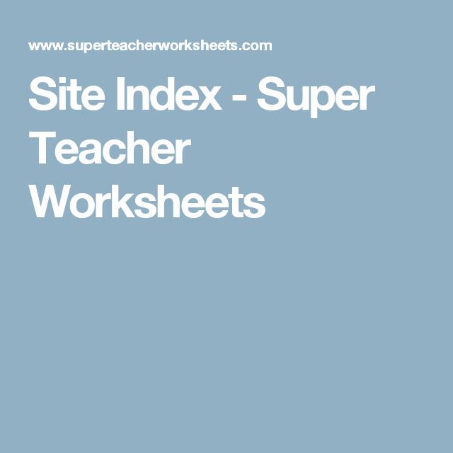 Super Teacher Worksheets Idioms Elegant Site Index Super Teacher Worksheets