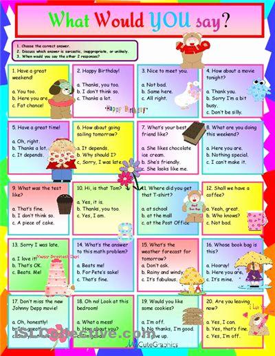 Super Teacher Worksheets Idioms Fresh Idioms What Would You Say Worksheet Free Esl Printable
