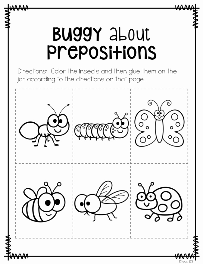 Super Teacher Worksheets Prepositions Beautiful Busy P's Prepositions