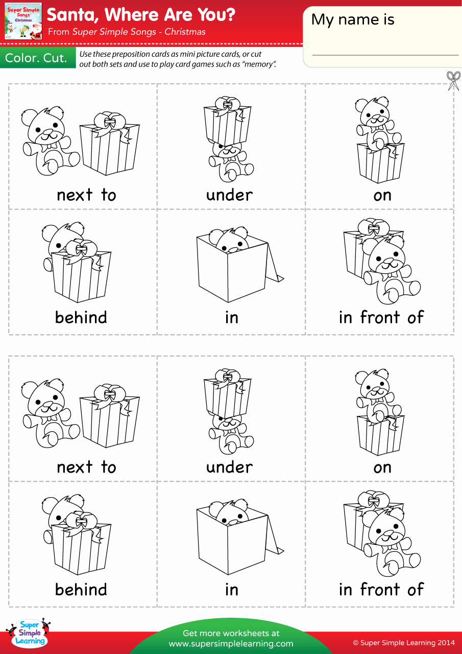 Super Teacher Worksheets Prepositions Beautiful Santa where are You Worksheet Prepositions Of Place