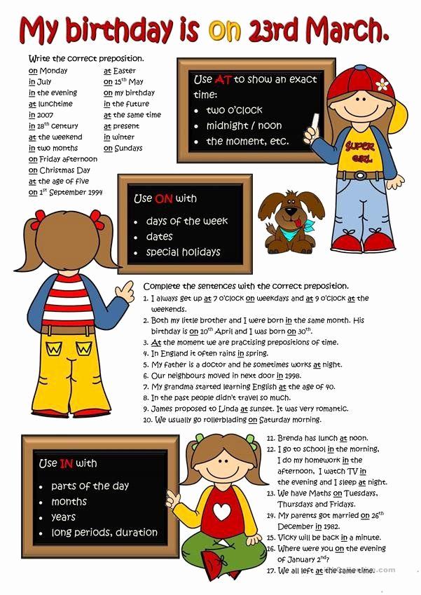 Super Teacher Worksheets Prepositions Elegant Super Teacher Worksheets Prepositions Prepositions Time