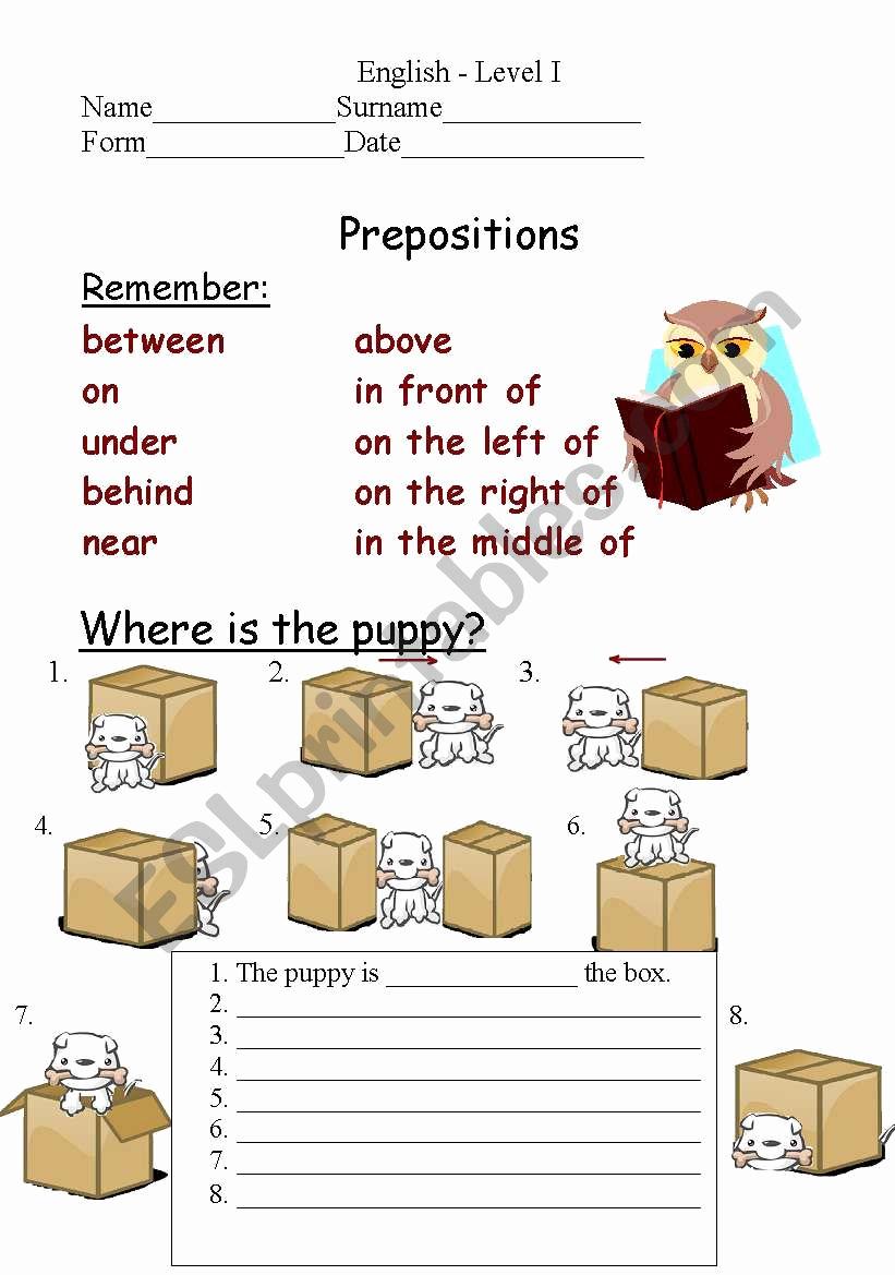Super Teacher Worksheets Prepositions Luxury Prepositions Of Place Esl Worksheet by Bulochka