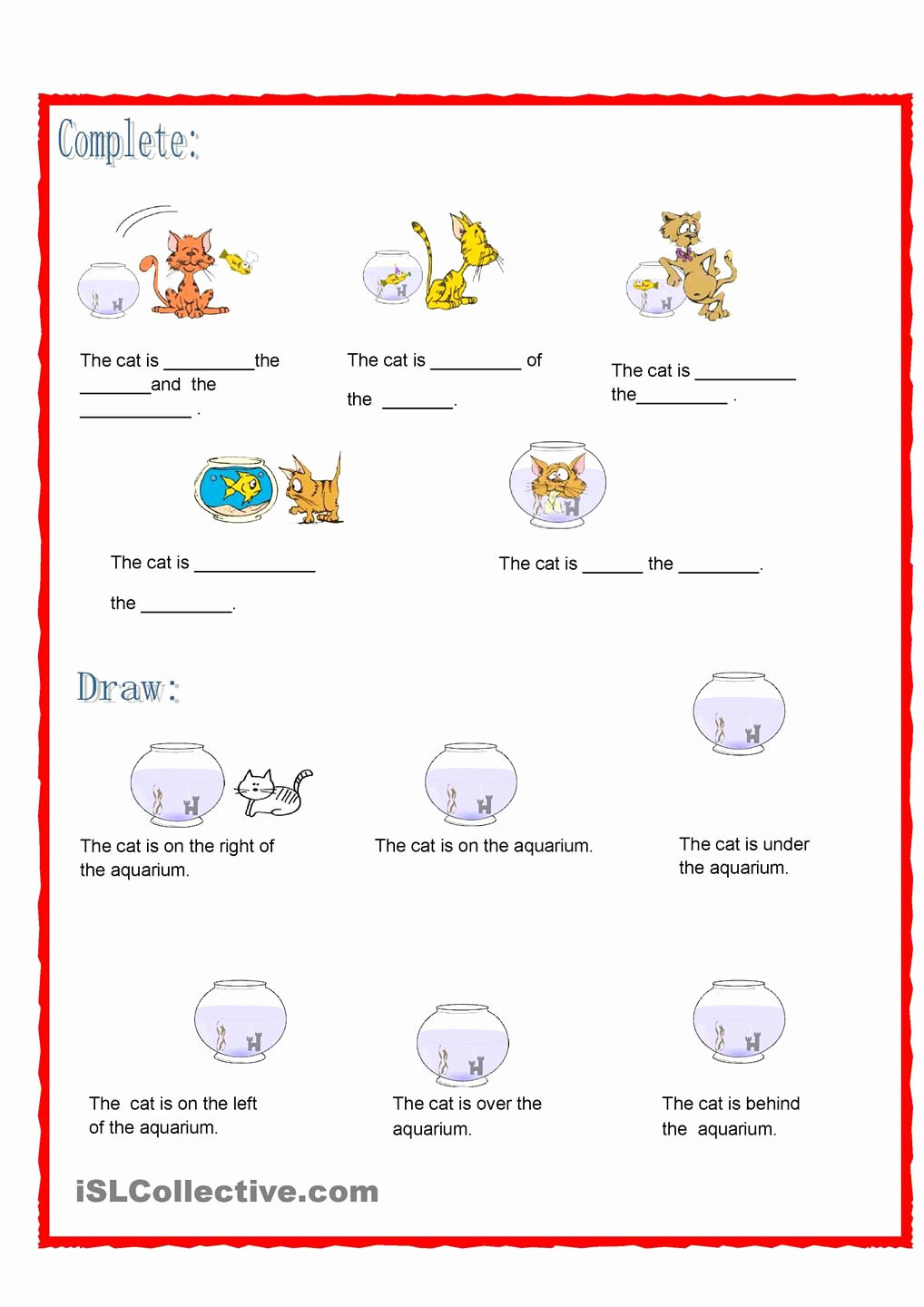Super Teacher Worksheets Prepositions New Prepositions the Cat is