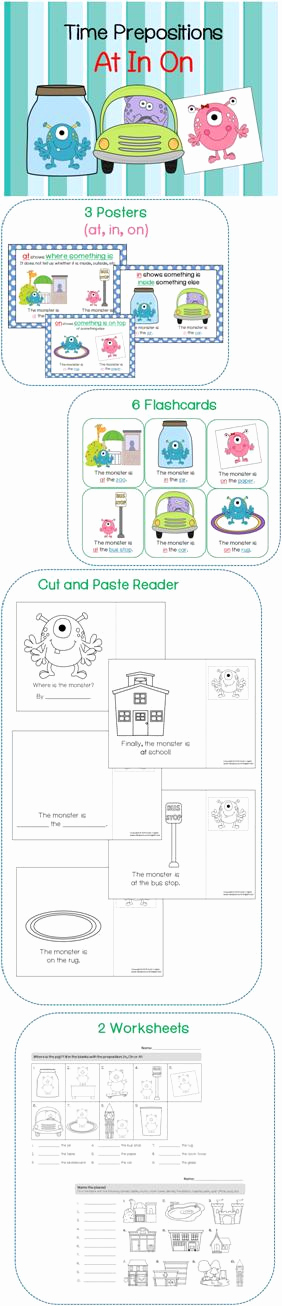 Super Teacher Worksheets Prepositions New Time Prepositions at In On