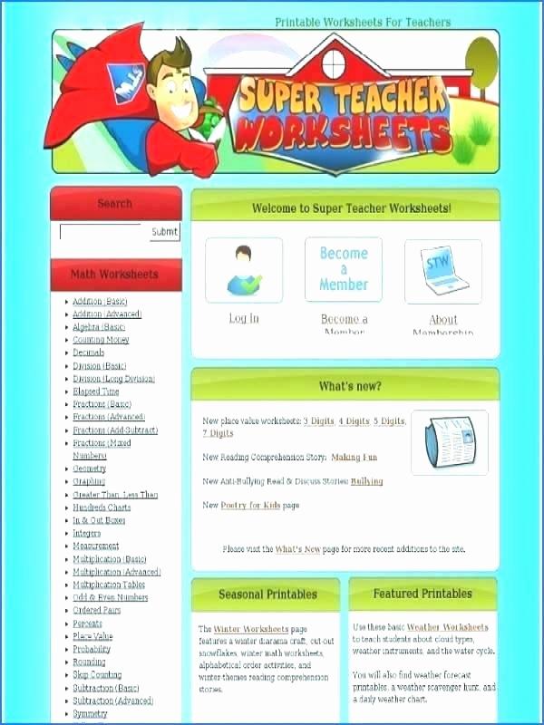 Super Teachers Worksheets Login Luxury 25 Super Teacher Login