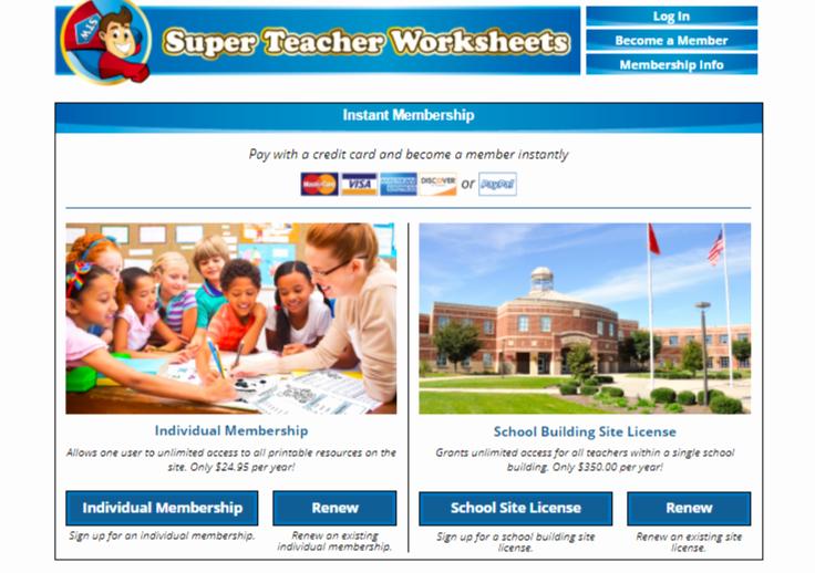 Superteacher Worksheets Login Awesome Super Teacher Worksheets