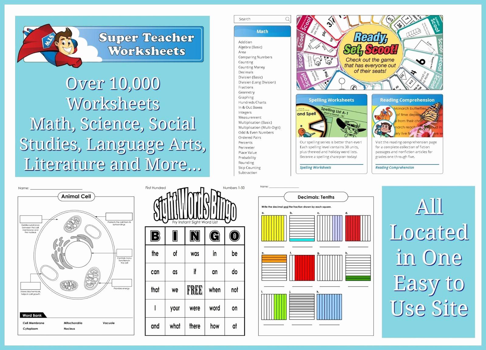 Superteacher Worksheets Login Elegant 20 Super Teachers Worksheets Login