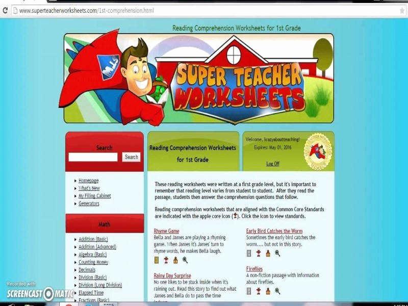 Superteacher Worksheets Login Lovely Super Teacher Worksheets Login and Password