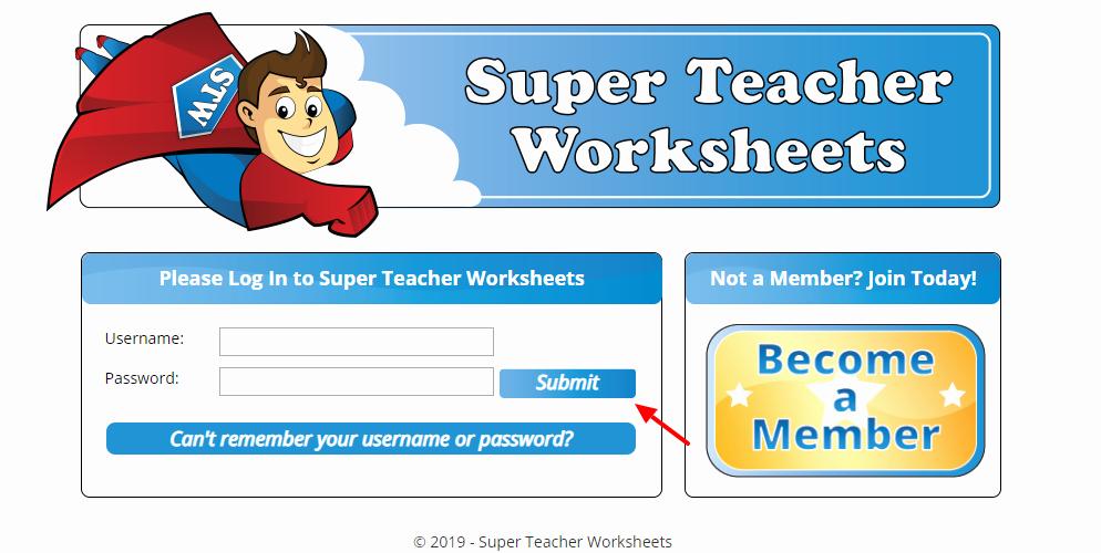 Superteacherworksheets Com Username Password Best Of Superteacherworksheets Login and Password