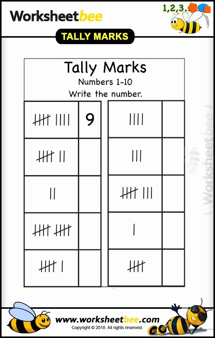 Tally Mark Worksheets for Kindergarten Awesome Tally Mark Worksheets for Kindergarten Worksheet Bee