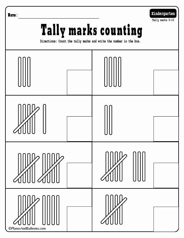 Tally Mark Worksheets for Kindergarten Inspirational 20 Tally Mark Worksheets for Kindergarten
