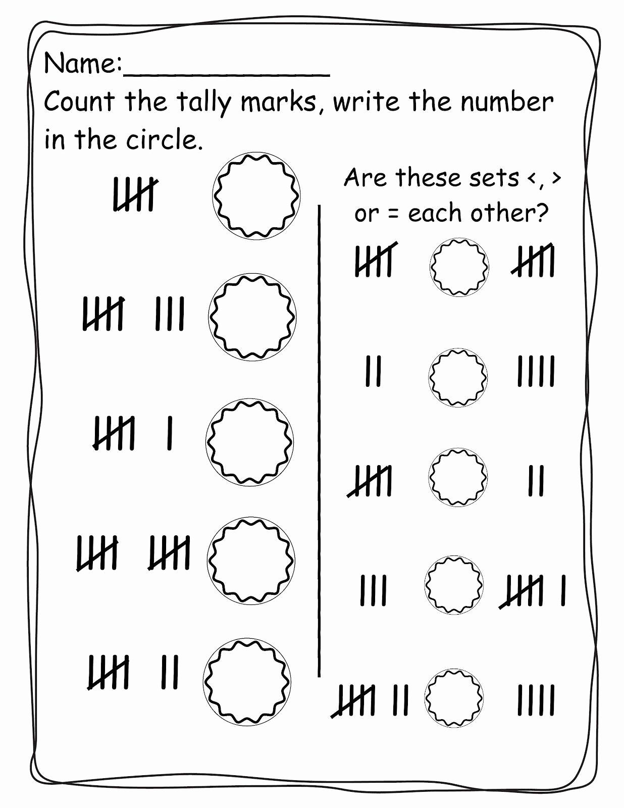 Tally Mark Worksheets for Kindergarten Inspirational Pin On Printable Worksheet for Kindergarten