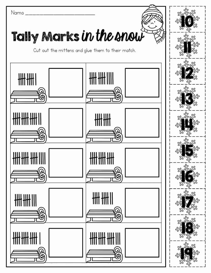 Tally Mark Worksheets for Kindergarten Inspirational Tally Mark Worksheets Printable