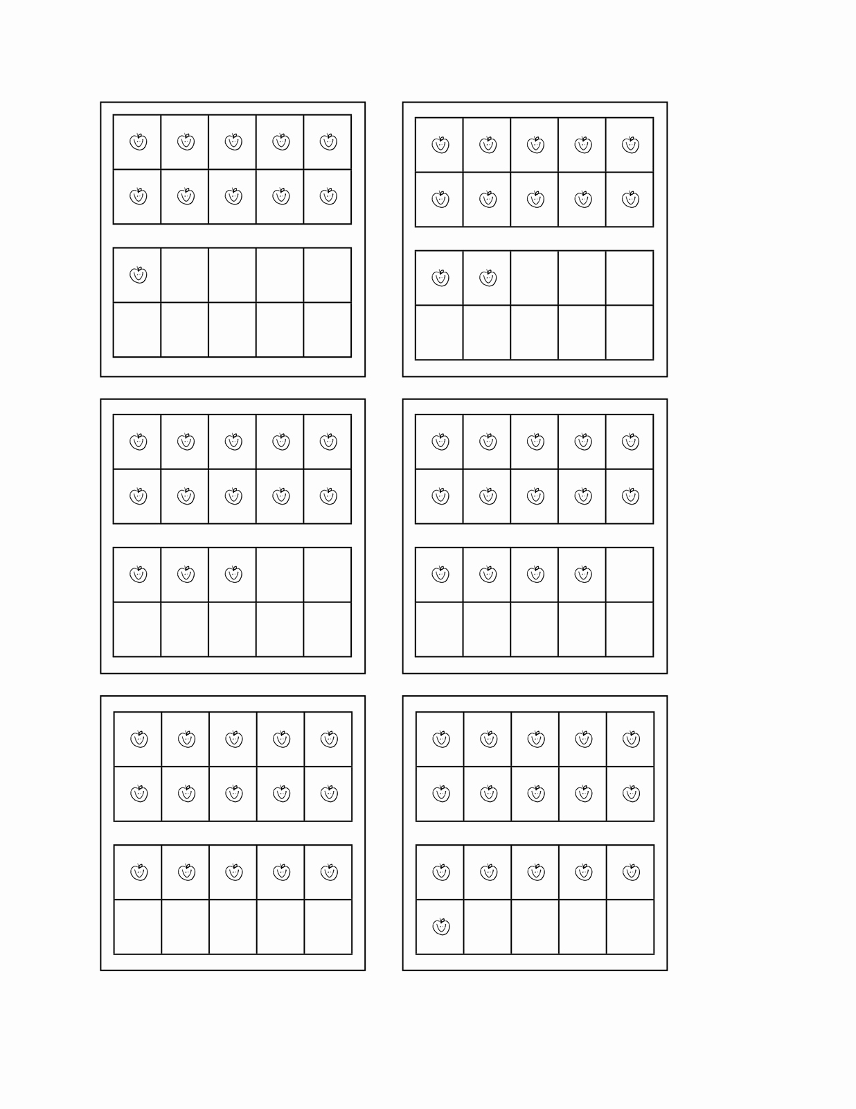 Ten Frames Worksheets Awesome 13 Best Of 10 Frame Worksheet Printable Blank 10