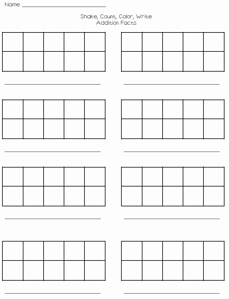 Ten Frames Worksheets Beautiful Blank Ten Frames