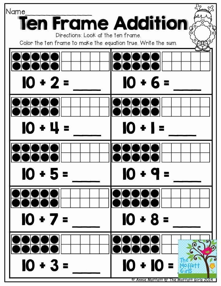 Ten Frames Worksheets Beautiful December Fun Filled Learning with No Prep