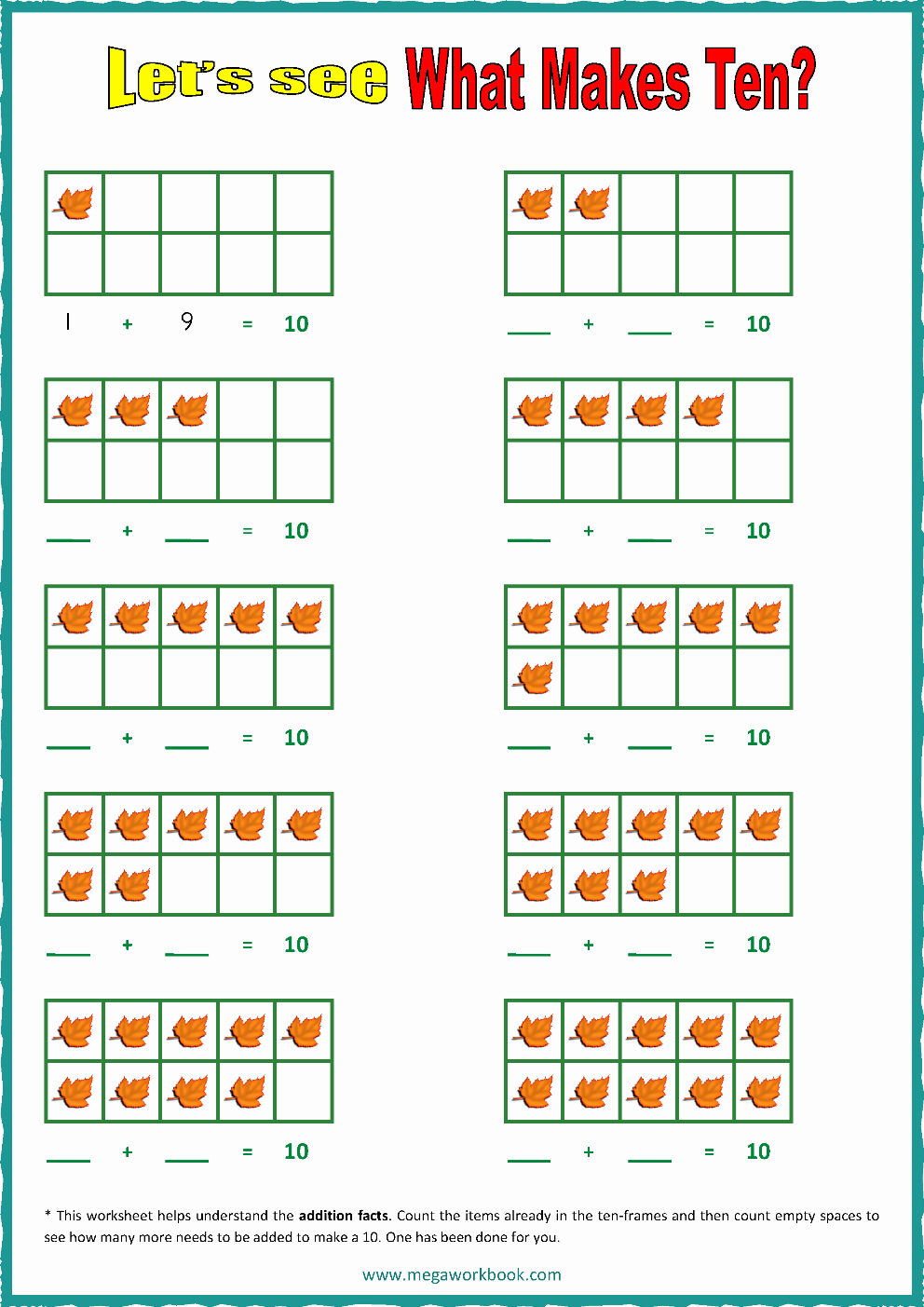 Ten Frames Worksheets Beautiful Ten Frame Worksheets Ten Frames 10 Frames Counting