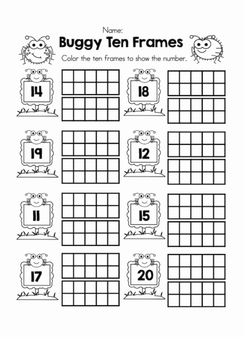 Ten Frames Worksheets Best Of 6 Best Printable Ten Frame Math Sheets Printablee