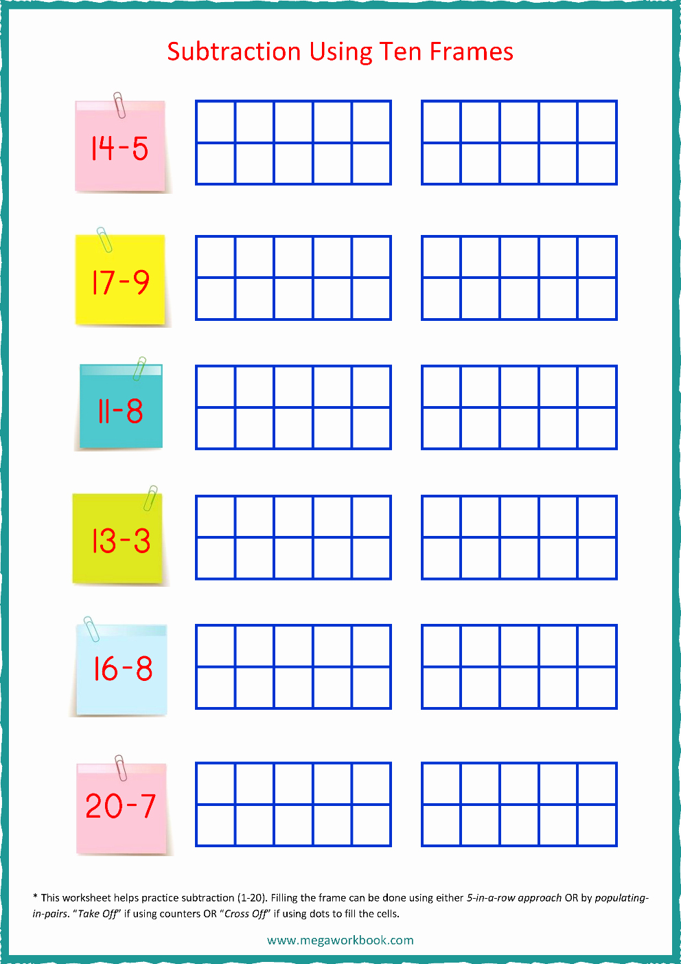Ten Frames Worksheets Best Of Ten Frame Worksheets In 2020