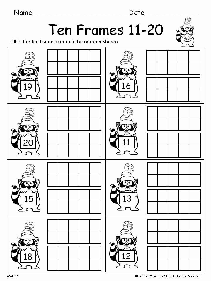 Ten Frames Worksheets Elegant Ten Frames