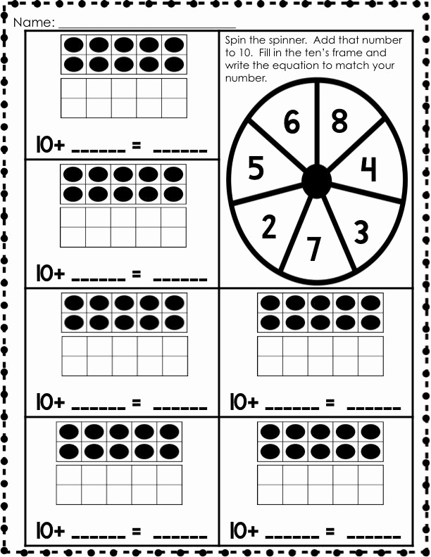 Ten Frames Worksheets Fresh 19 Best Of Kindergarten Making Ten Worksheets Ten